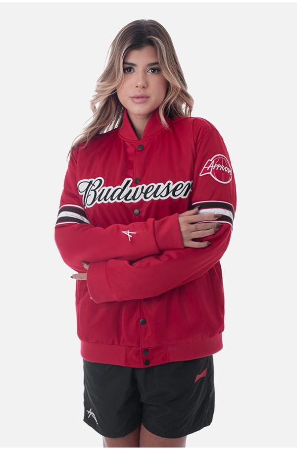 Jaqueta College Approve X Budweiser Vermelha