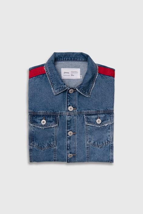 Jaqueta Jeans Approve Canvas com Faixa Vermelha