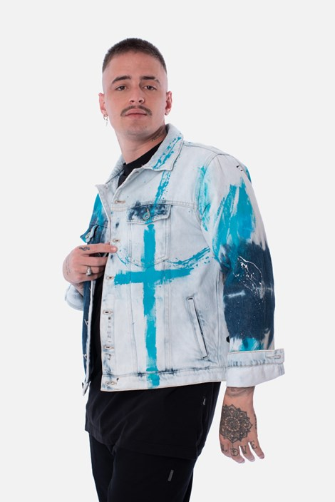 Jaqueta Jeans Approve Lab Blue Eyes Bleached
