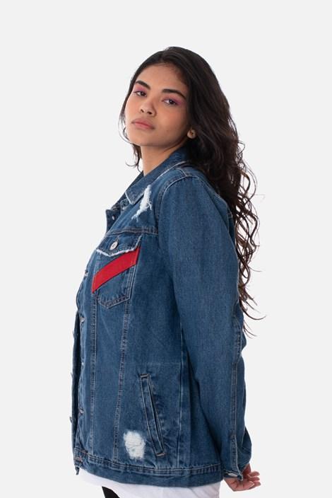 Jaqueta Jeans Tradicional Approve Canvas Puída