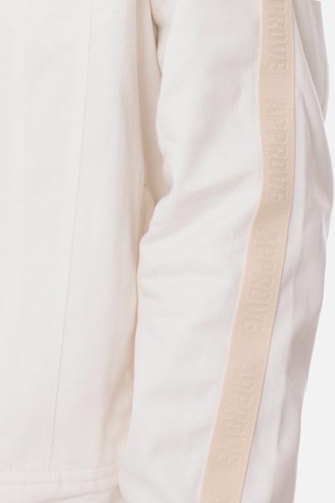 Jaqueta Sarja Approve Off White com Faixa