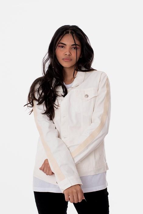 Jaqueta Sarja Tradicional Approve Canvas Off White com Faixa