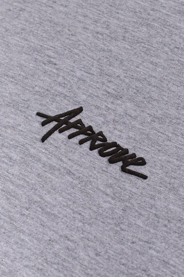 Kit 3 Camisetas Regulares Approve Preta, Branca e Cinza Mescla