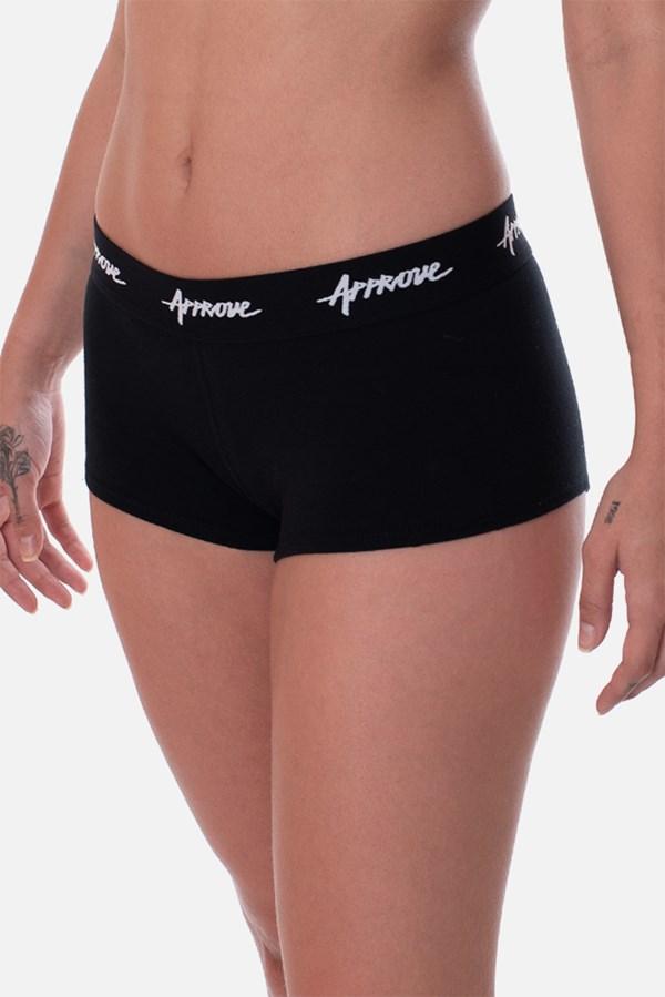 Kit 3 Shorts Underwear Approve Preto