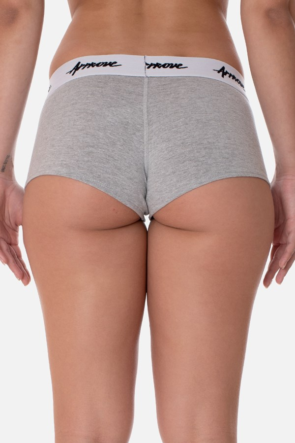 Kit 3 Shorts Underwear Approve Preto, Branco e Cinza