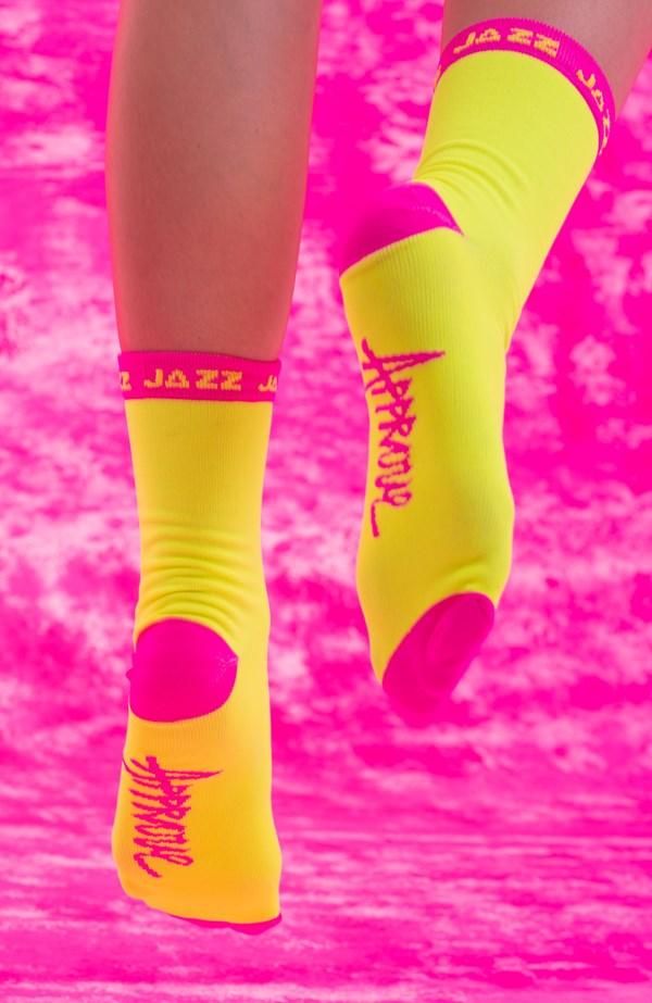Meia Approve X Jazz 7Resh Amarelo Neon