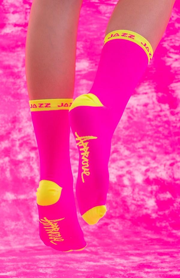Meia Approve X Jazz 7Resh Rosa Neon