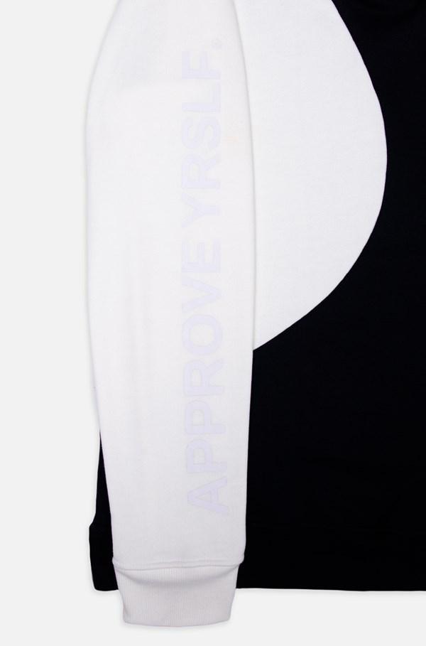 Moletom Approve Yin Yang Preto E Off White