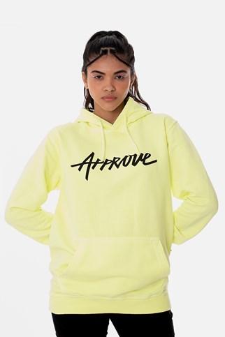 Moletom Canguru Approve Amarelo Neon