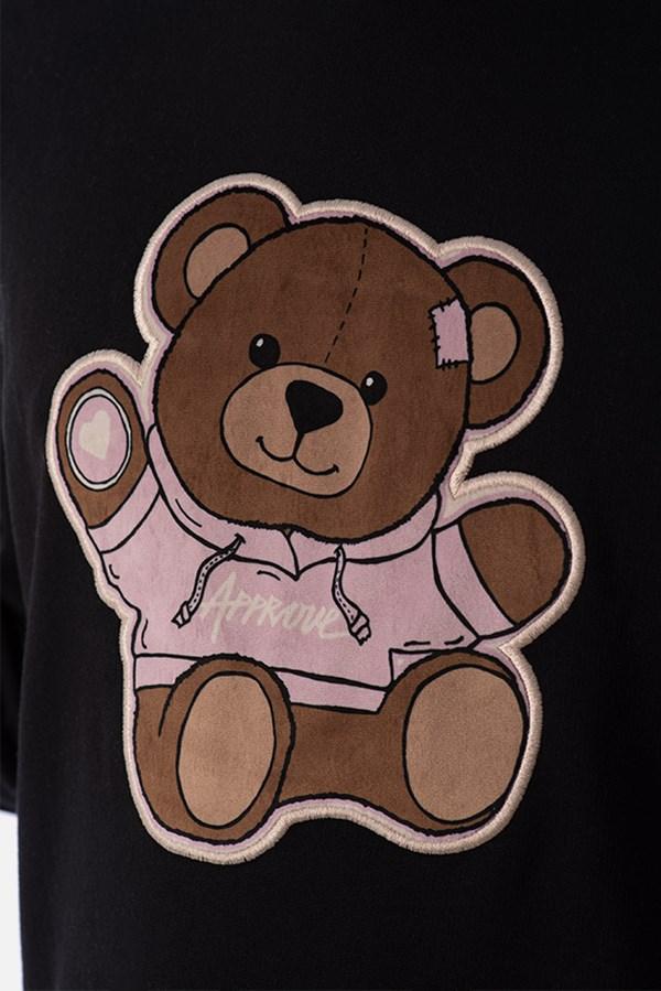 Moletom Canguru Approve Bear by Picon Preto