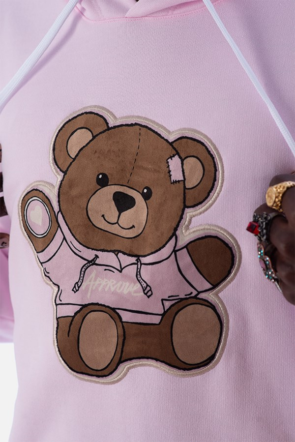 Moletom Canguru Approve Bear by Picon Rosa Quartz
