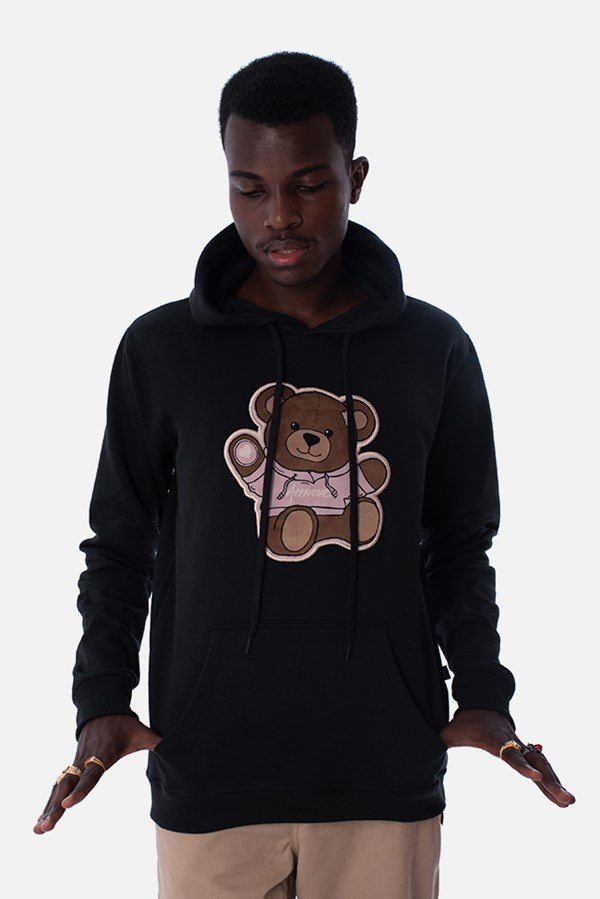 Moletom Canguru Approve Bear Preto