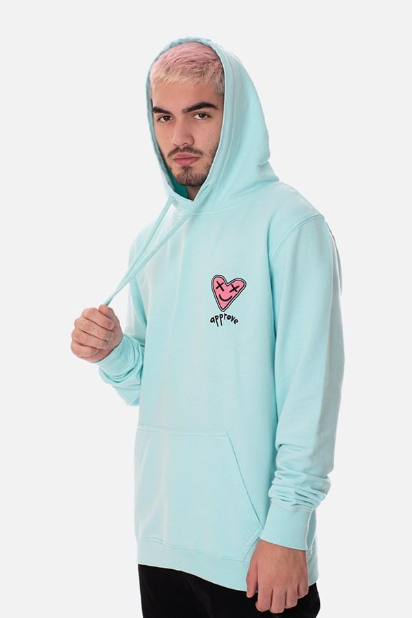 Moletom Canguru Approve Heart by Picon Azul
