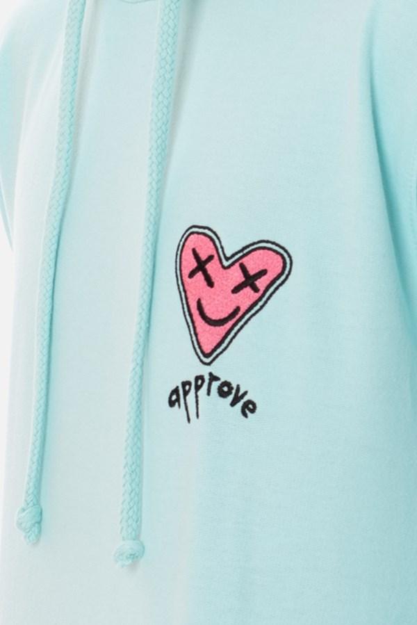Moletom Canguru Approve Lp Heart Azul