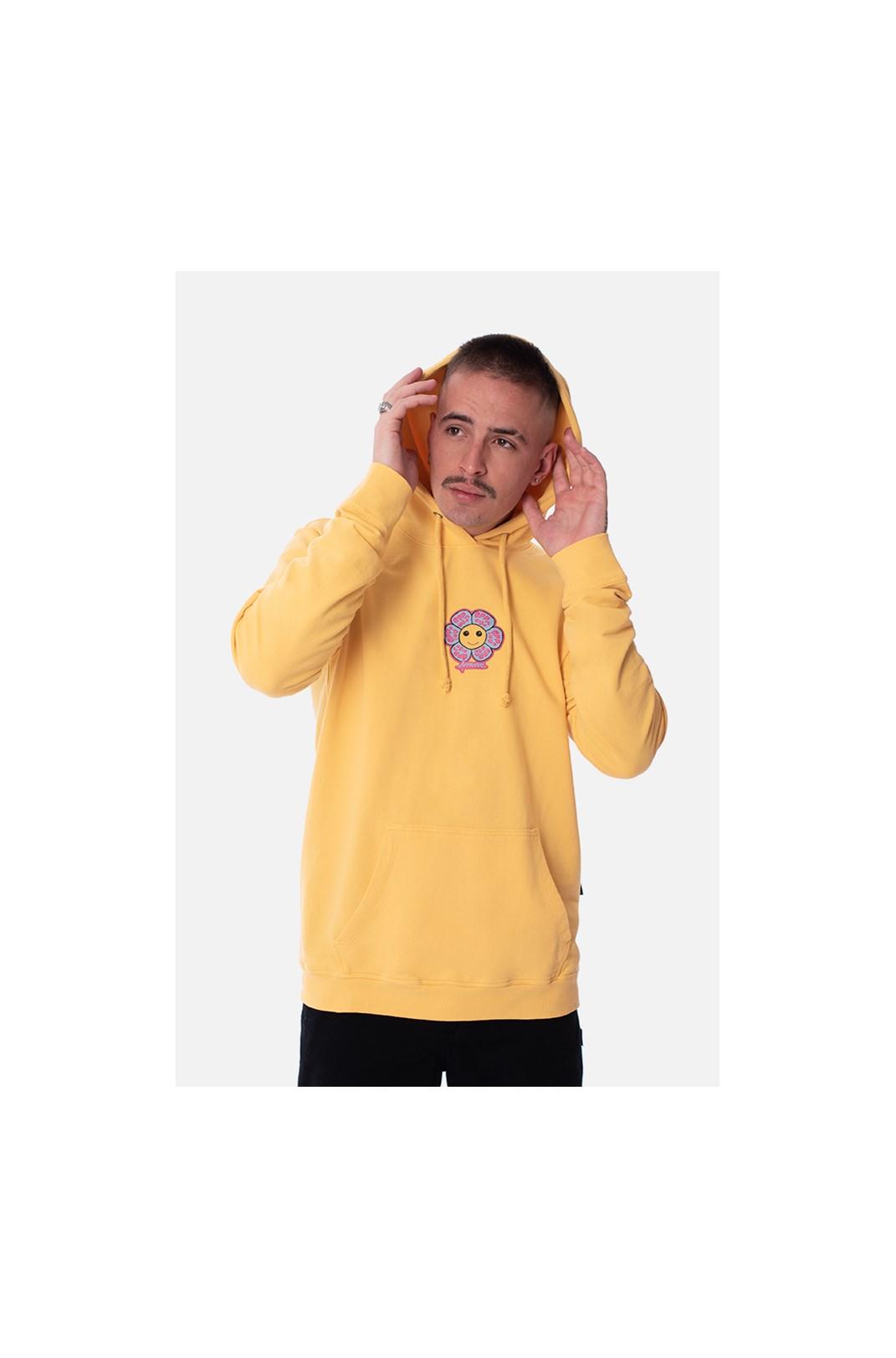 Moletom Canguru Approve Psychedelic Amarelo