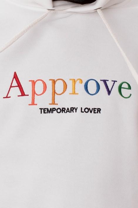 Moletom Canguru Approve Rainbow Off White