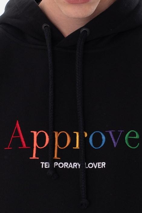 Moletom Canguru Approve Rainbow Preto