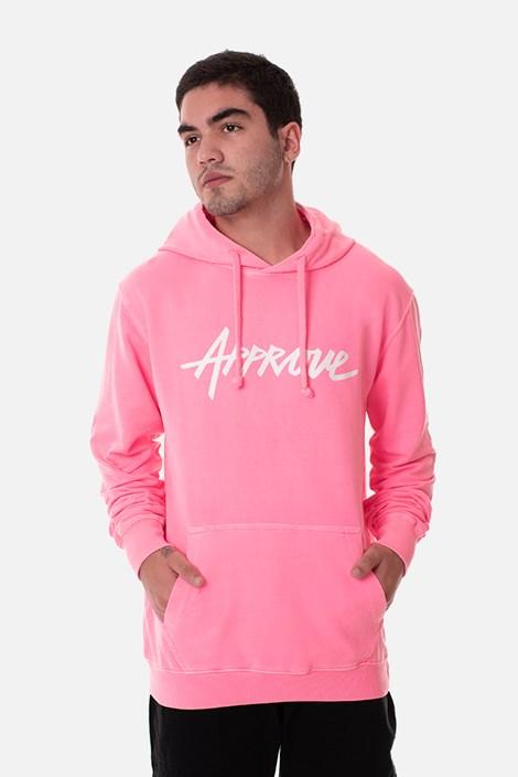 Moletom Canguru Approve Rosa Neon