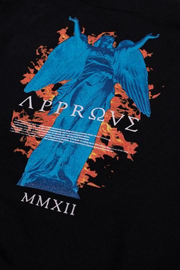 Moletom Canguru Approve Ruínas Angel Statue Preto