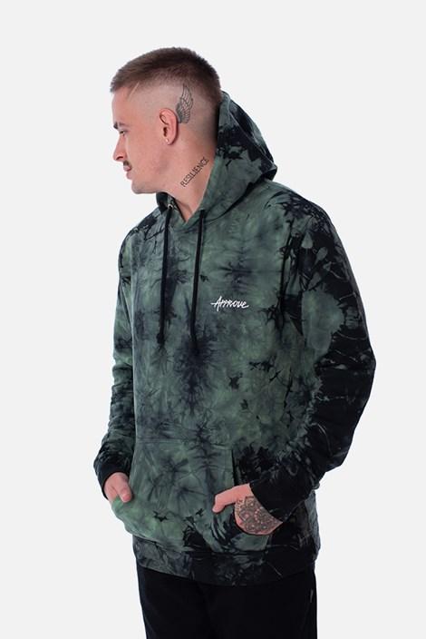 Moletom Canguru Approve Tie Dye Acid Verde