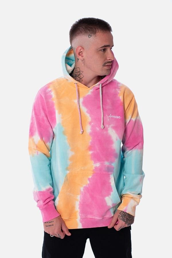 Moletom Canguru Approve Tie Dye Colorful