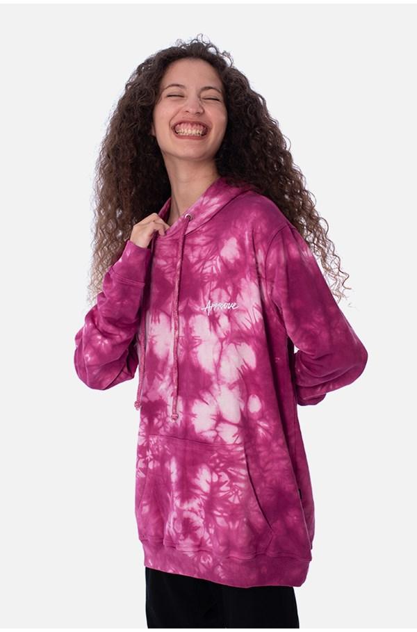 Moletom Canguru Approve Tie Dye Purple Cloud Roxo