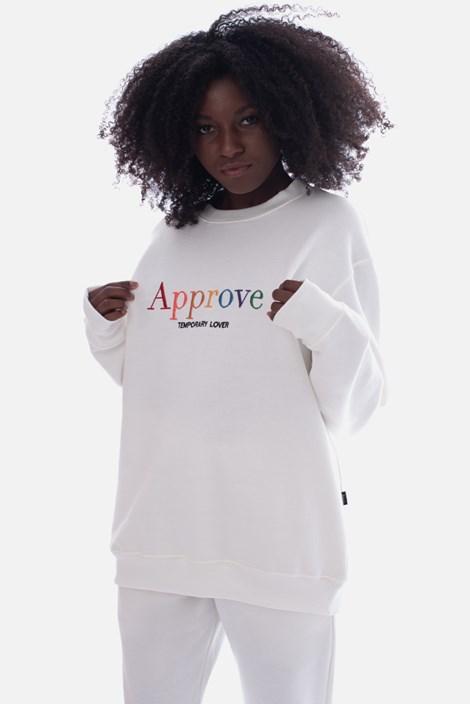 Moletom Careca Approve Rainbow Off White