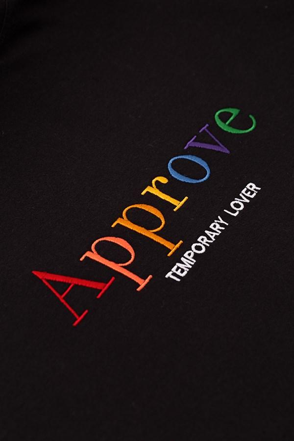 Moletom Careca Approve Unissex Rainbow Preto