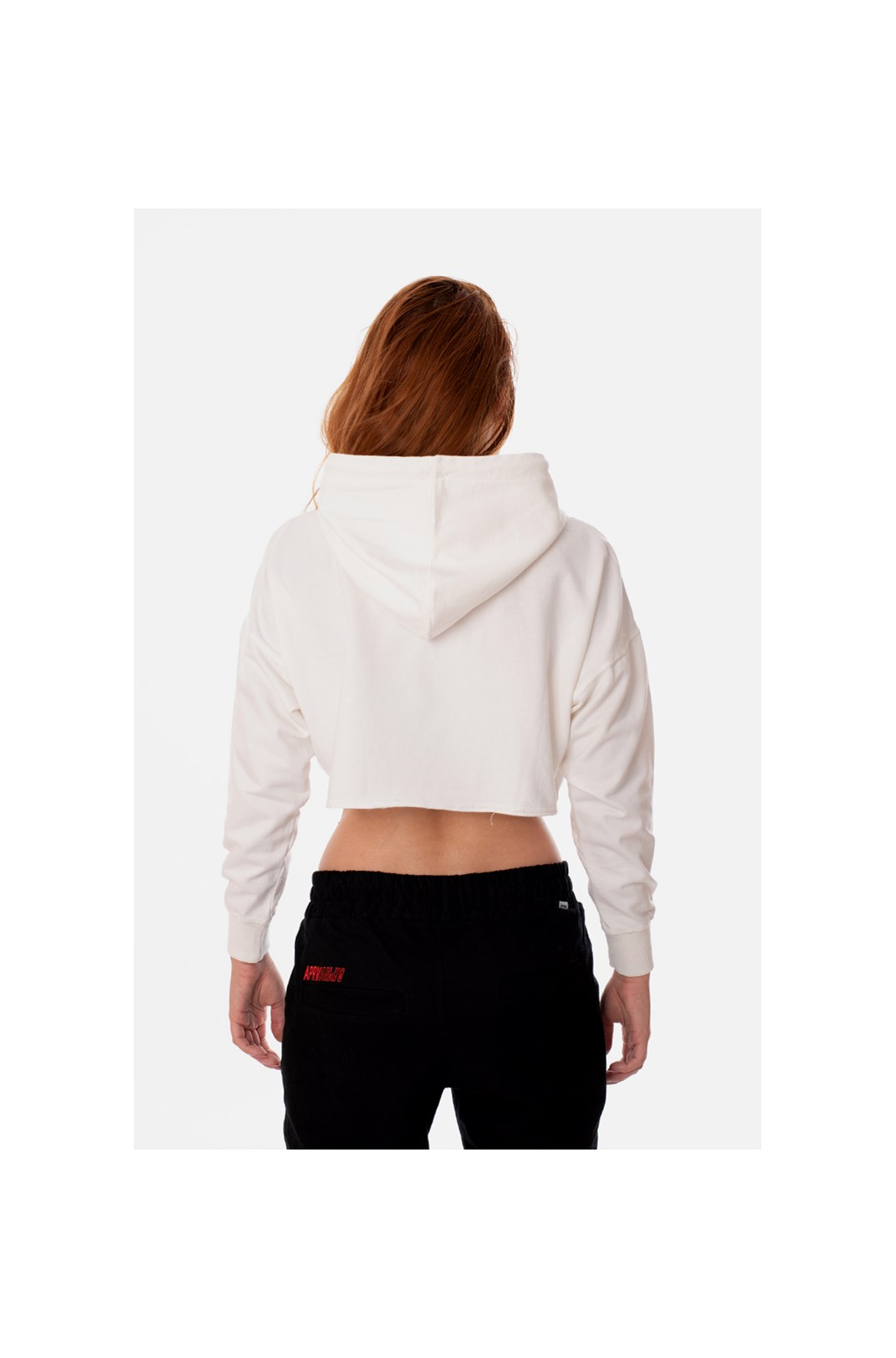 Moletom Cropped Approve Heart Off White