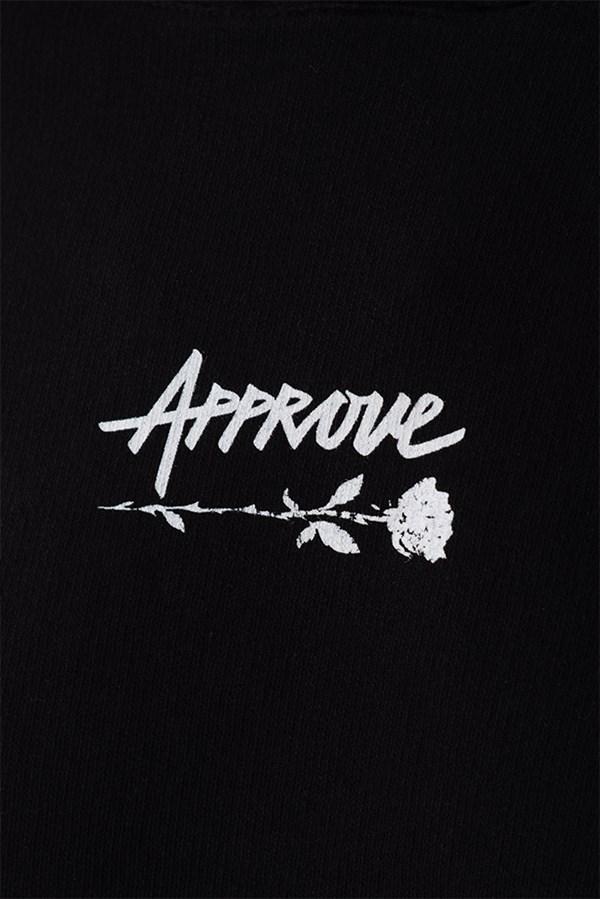 Moletom Cropped Approve Upsidedown Rose Preto