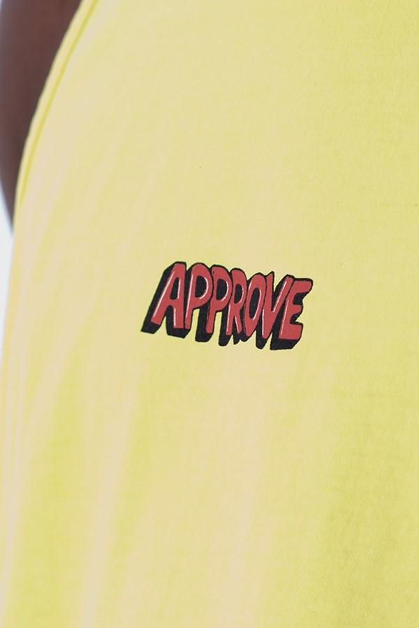 Regata Approve Cartoon Amarelo Neon