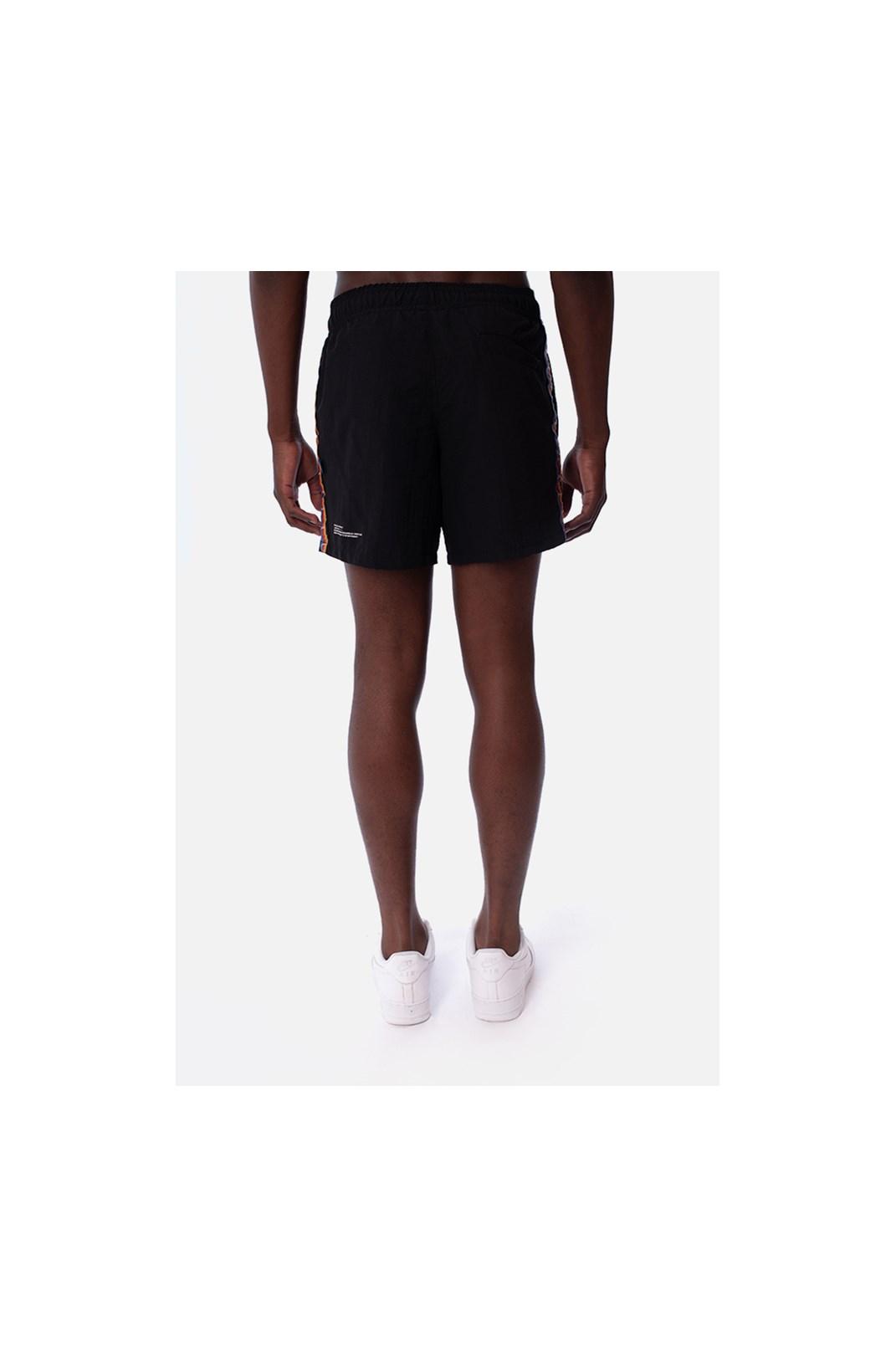Shorts Approve Pixels&Pills Preto com Faixas