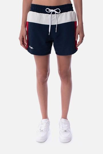 Shorts Approve Retropia Azul e Vermelho