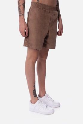 Shorts Cotelê Approve Canvas III Xadrez Bege