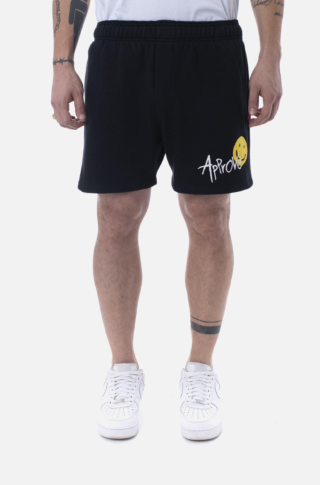 Shorts Moletom Approve Doodle Preto