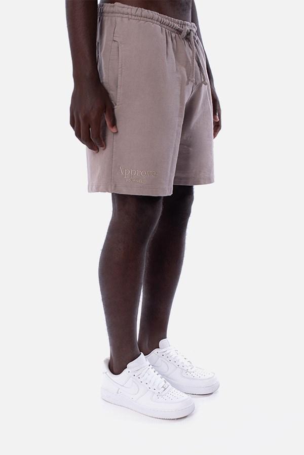 Shorts Moletom Approve Monochromatic Bege