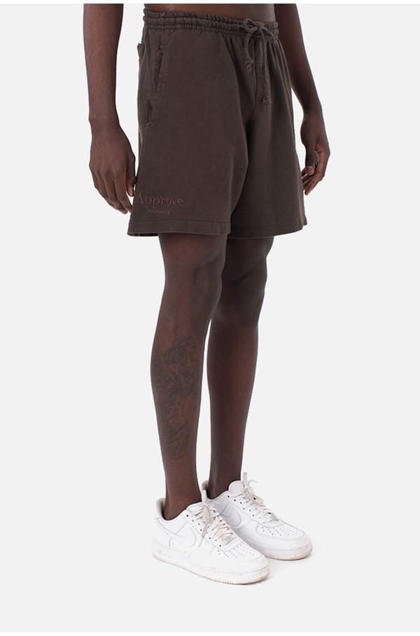 Shorts Moletom Approve Monochromatic Marrom