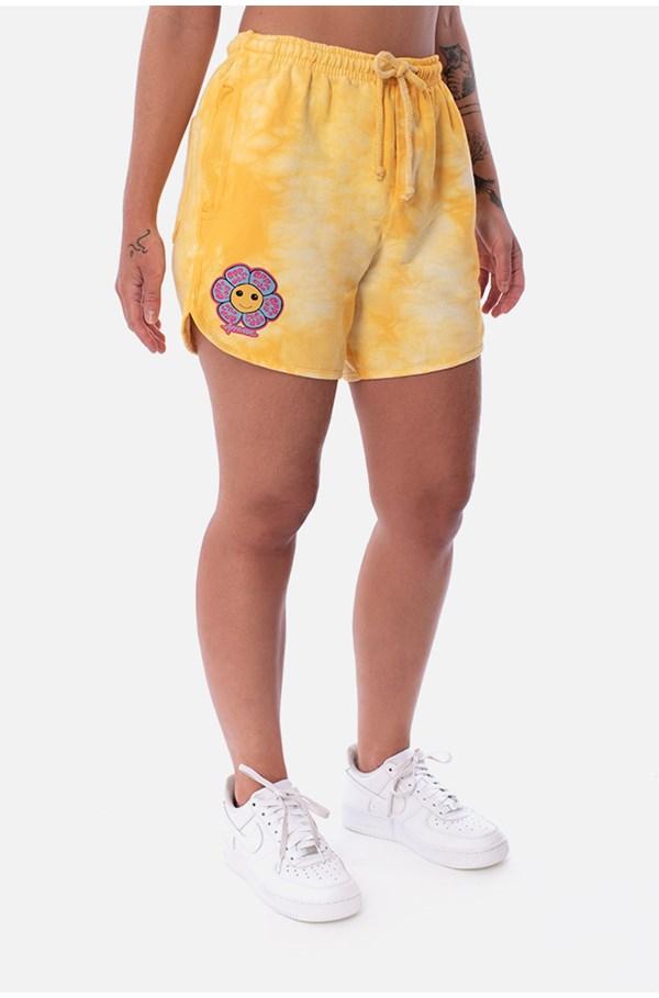 Shorts Moletom Approve Psychedelic Amarelo
