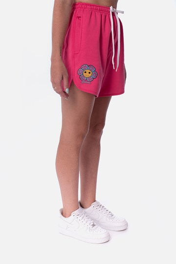 Shorts Moletom Approve Psychedelic Rosa