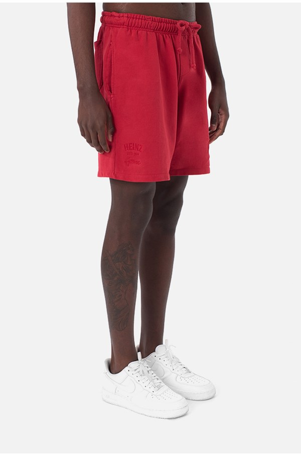 Shorts Moletom Approve X Heinz Vermelho
