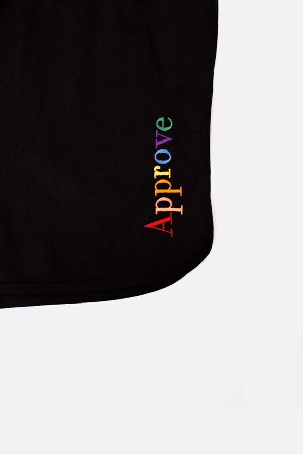 Shorts Sarja Approve Rainbow Preto