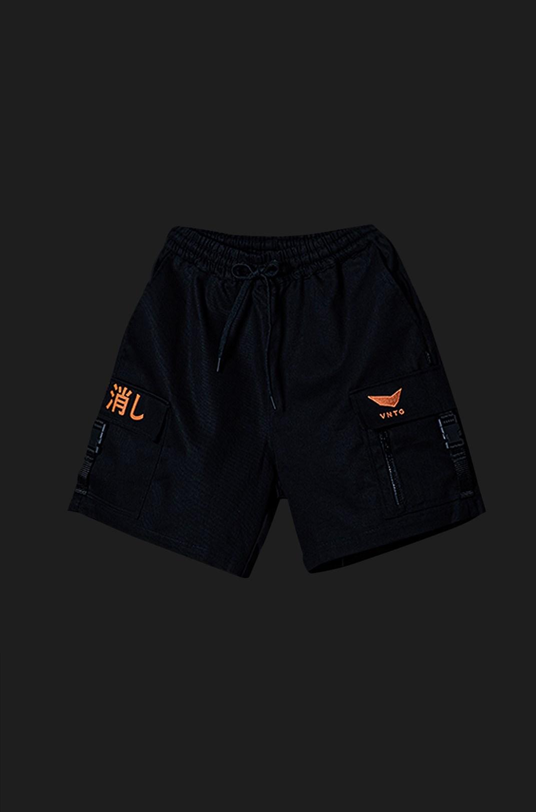 Shorts Sarja Cargo Vntg Preto