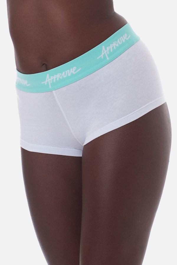 Shorts Underwear Approve Branco com Azul