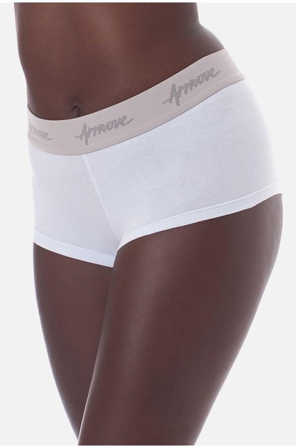 Shorts Underwear Approve Branco Com Cinza