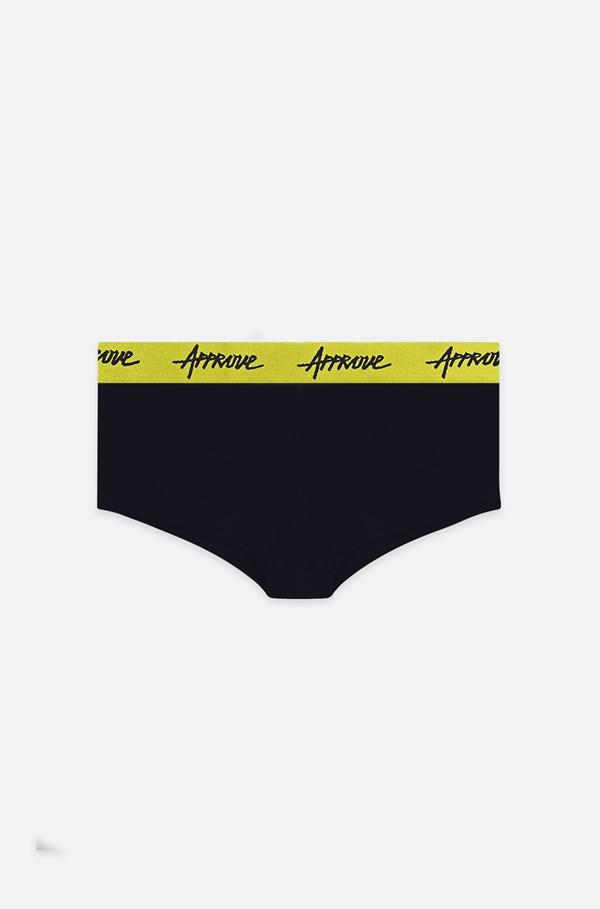 Shorts Underwear Approve Preto com Amarelo