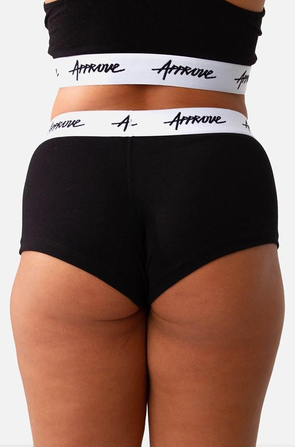 Shorts Underwear Approve Preto Com Branco