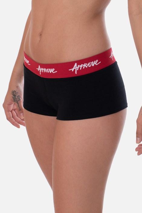 Shorts Underwear Approve Preto Com Vermelho