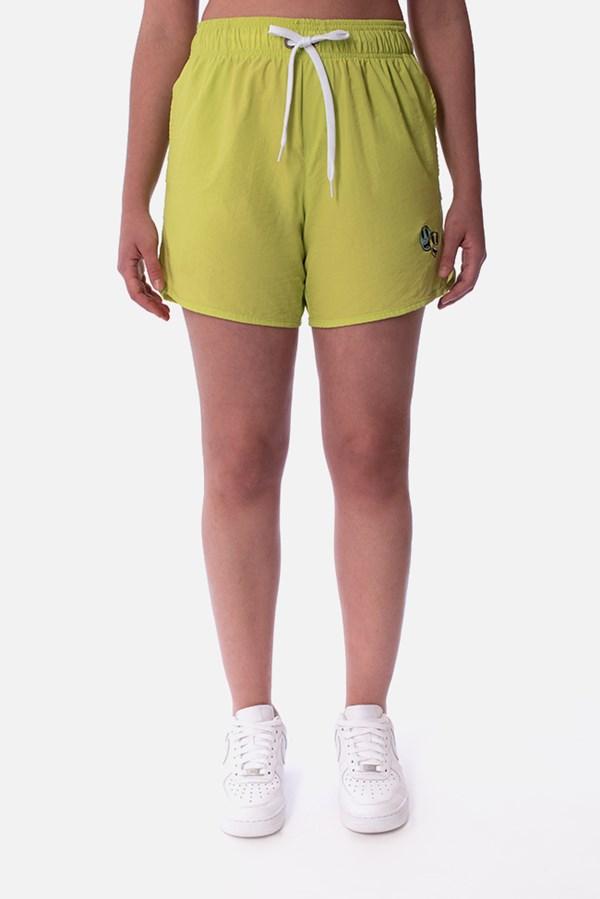 Shorts Unissex Approve Cartoon Amarelo Neon