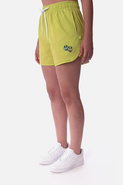 Shorts Unissex Approve Cartoon Amarelo Neon