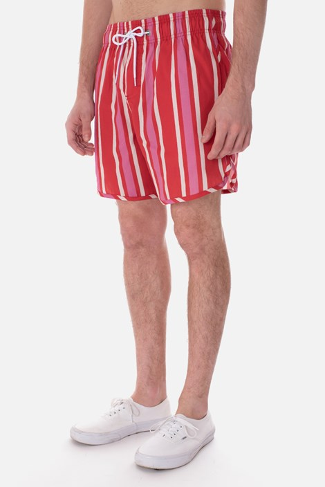 Shorts Unissex Approve Chill Vermelho Listrado